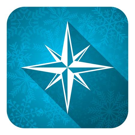 internet explorer: compass flat icon, christmas button