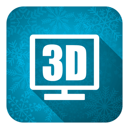 programm: 3d display flat icon, christmas button
