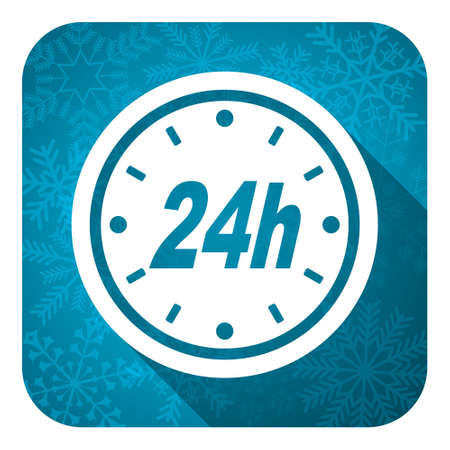 24h: 24h flat icon, christmas button