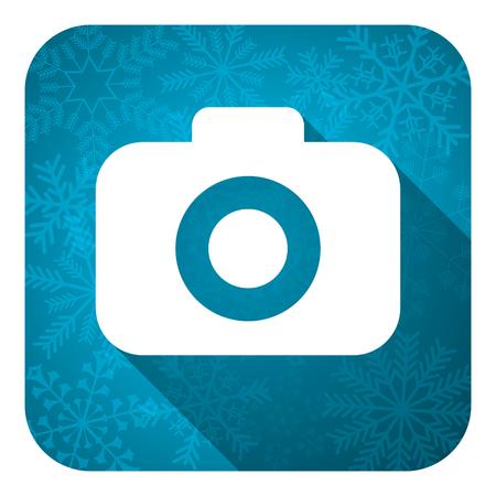 photo camera flat icon, christmas button, photography sign photo