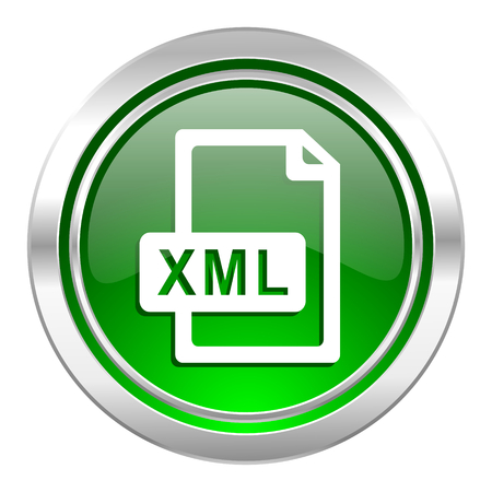 xml: xml file icon, green button