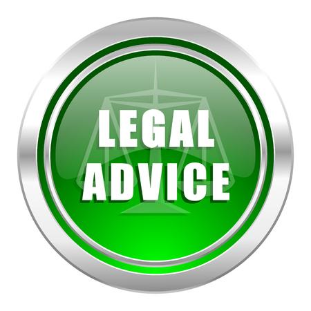 asesoria legal: icono de asesoramiento jur�dico, el bot�n verde, signo de la ley