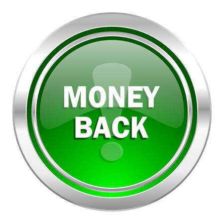 money back: money back icon, green button