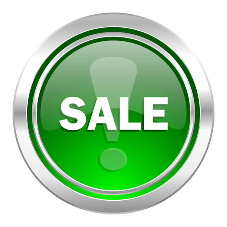 sale icon: sale icon, green button Stock Photo