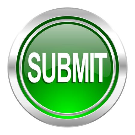 submit icon, green button Stock Photo