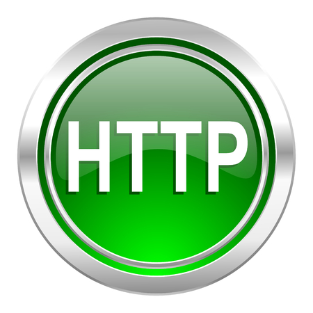 http: http icon, green button
