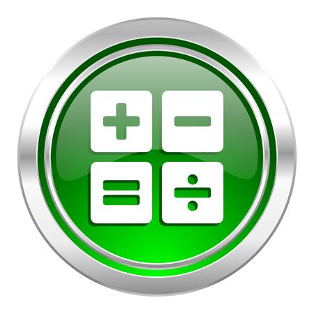 calc: calculator icon, green button, calc sign