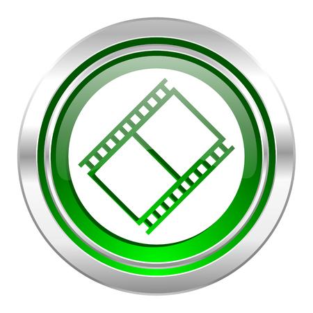 movie sign: icono de la pel�cula, el bot�n verde, signo de pel�cula, un s�mbolo del cine