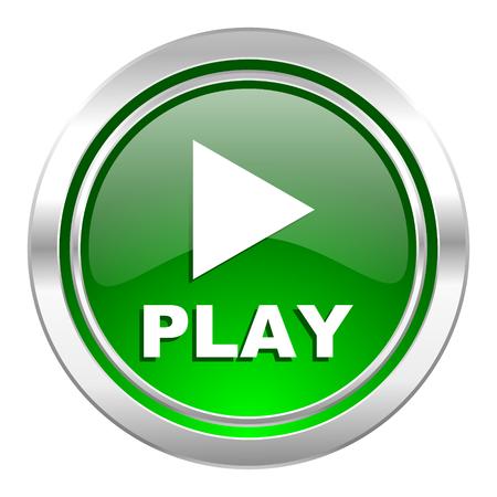 play icon, green button photo