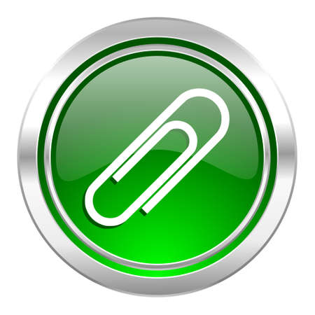 paperclip: paperclip icon, green button