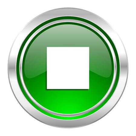 stop icon: stop icon, green button Stock Photo