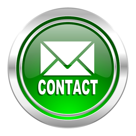 email contact: email icon, green button, contact sign