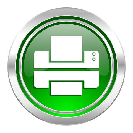 printer icon: printer icon, green button, print sign