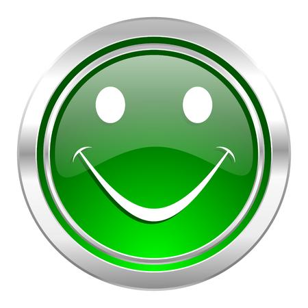new yea: smile icon, green button