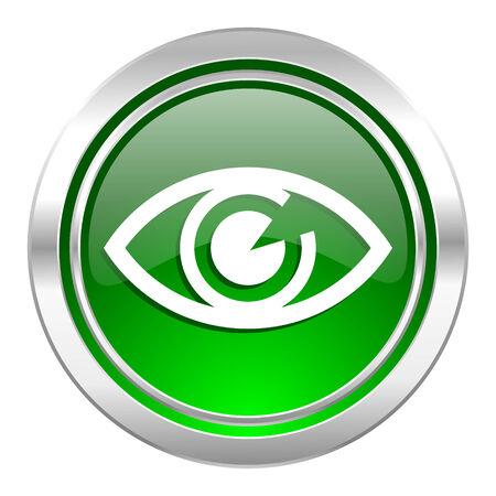 eye icon, green button, view sign photo