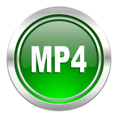 mp4: mp4 icon, green button