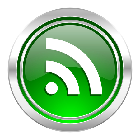 rss icon, green button photo