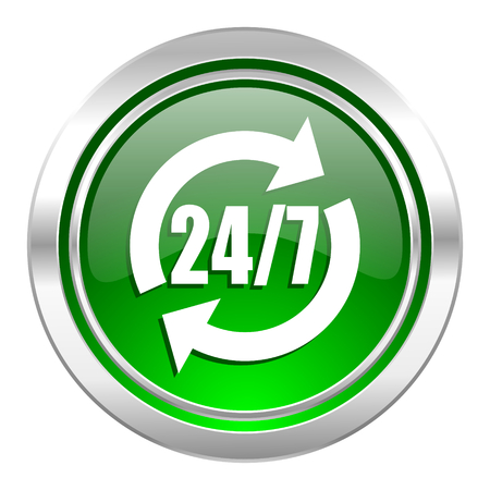 service icon, green button photo
