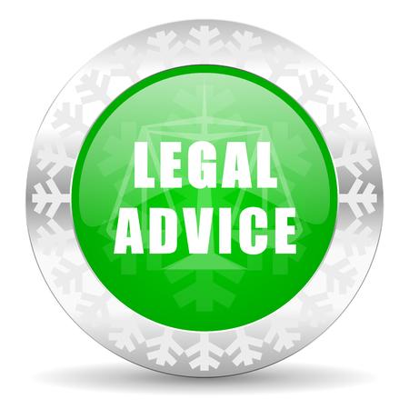 asesoria legal: icono legal consejos verde, bot�n de navidad, signo ley