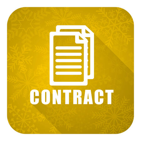 icom: contract flat icon, gold christmas button