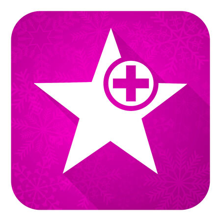 favourite: star violet flat icon, christmas button, add favourite sign Stock Photo