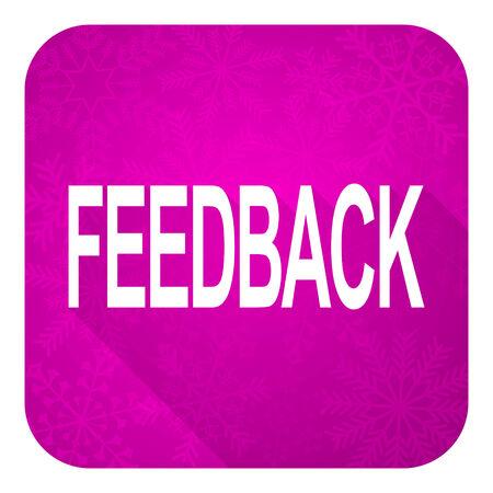 feedback violet flat icon, christmas button