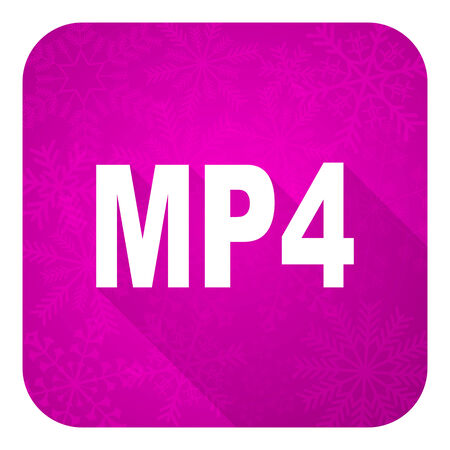 mp4: mp4 violet flat icon, christmas button