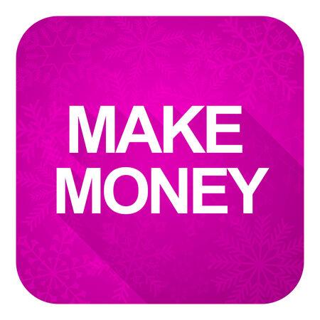 Making Money Icons Make Money Violet Flat Icon