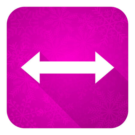 sterring: arrow violet flat icon, christmas button