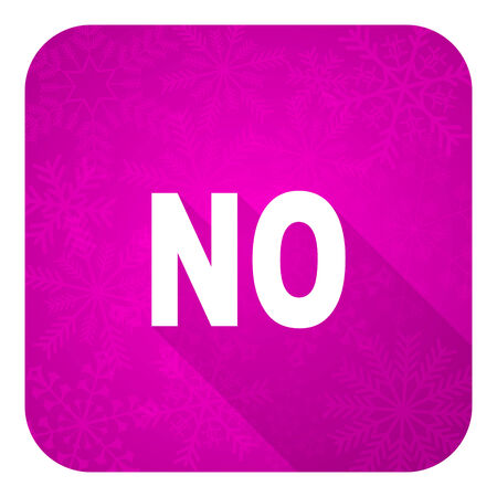 negate: no violet flat icon, christmas button