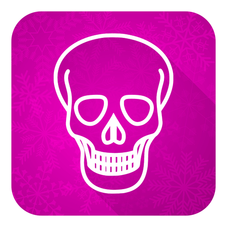 pirating: skull violet flat icon, christmas button, death sign