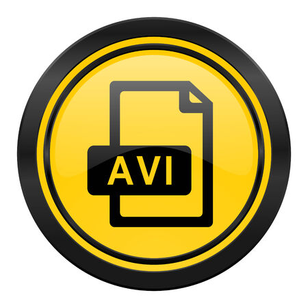 avi: avi file icon Stock Photo