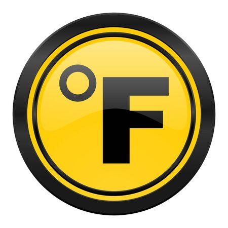 fahrenheit: fahrenheit icon, temperature unit sign Stock Photo