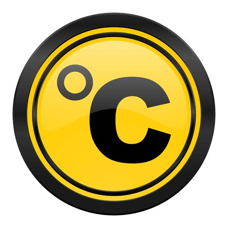 celsius: celsius icon, temperature unit sign Stock Photo