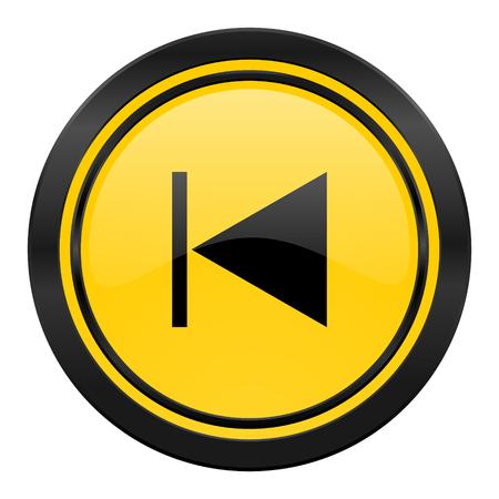 previous icon, yellow photo