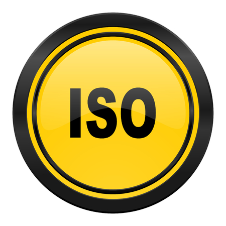 iso icon: iso icon, yellow