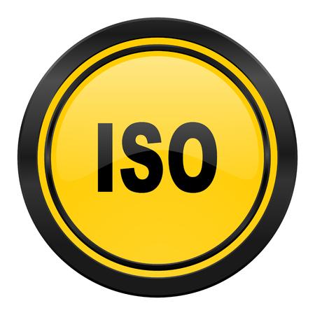 iso icon: iso icon, yellow