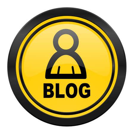 blog icon: blog icon, yellow Stock Photo