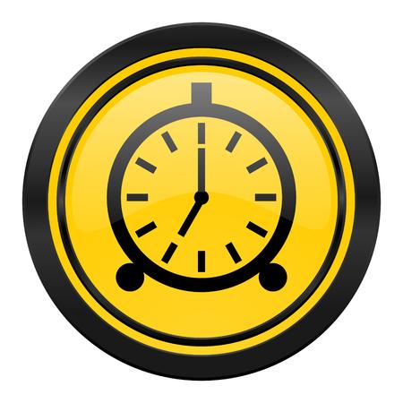 alarm icon, yellow, alarm clock sign photo