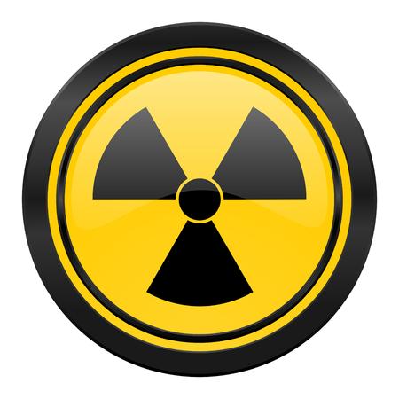 gamma radiation: radiation icon, yellow, atom sign Stock Photo