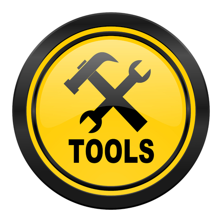 tools icon, yellow photo