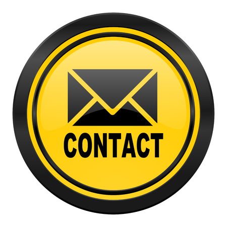 email contact: email icon, yellow, contact sign