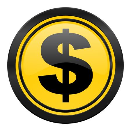 dollar icon: dollar icon, yellow, us dollar sign Stock Photo