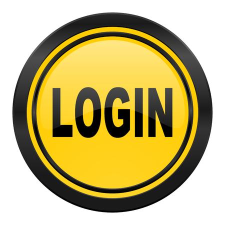 login icon: login icon, yellow