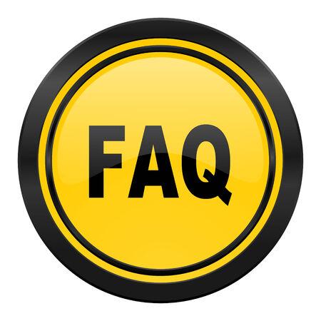 faq icon: faq icon, yellow
