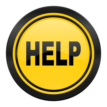 help icon: help icon, yellow