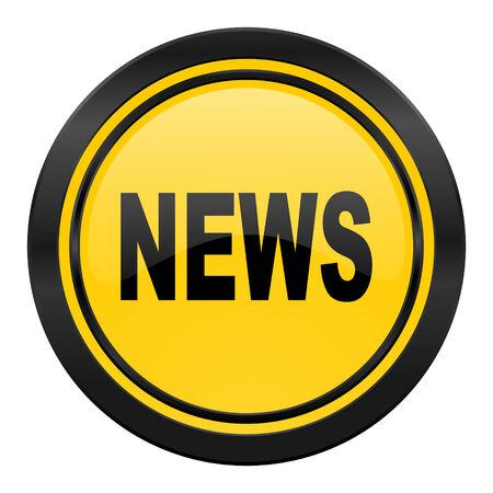 icone news: nouvelles ic�ne, jaune