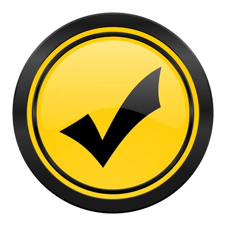 accept icon: accept icon, yellow, check sign
