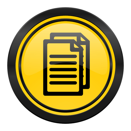 yellow pages: document icon, yellow, pages sign