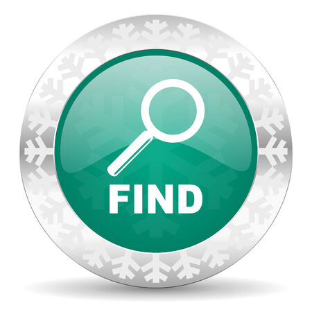 find green icon, christmas button photo